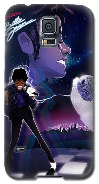 Galaxy S5 Case featuring the drawing Billie Jean 2 by Nelson dedos Garcia