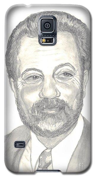 Galaxy S5 Case featuring the drawing Billy Joel Portrait by Carol Wisniewski