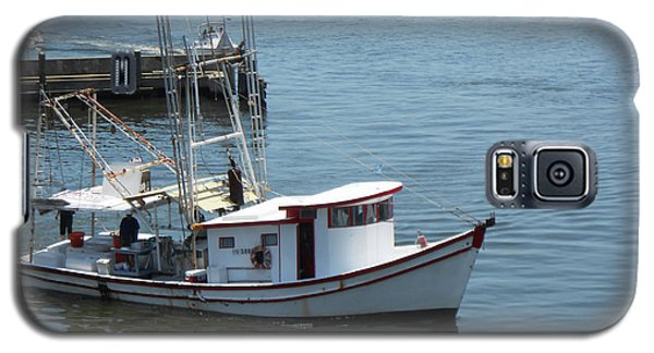 Galaxy S5 Case featuring the photograph Bilouxi Shrimp Boat by Cynthia Powell