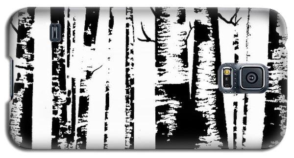 Birch Forest Black Galaxy S5 Case