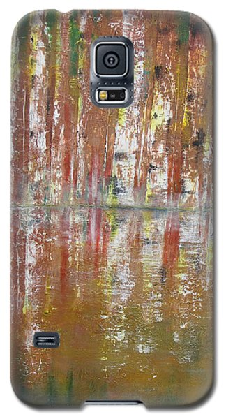 Galaxy S5 Case featuring the painting Birch In Abstract by Gary Smith
