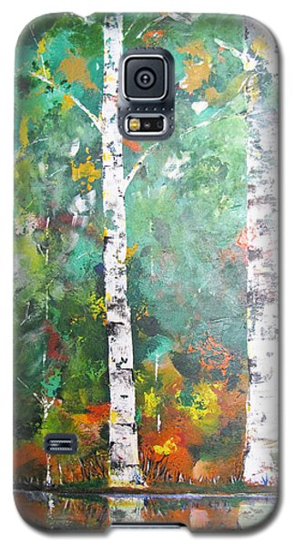 Galaxy S5 Case featuring the painting Birch In Color by Gary Smith