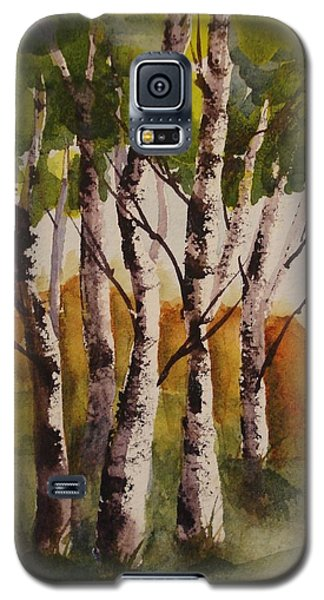 Galaxy S5 Case featuring the painting Birch by Marilyn Jacobson