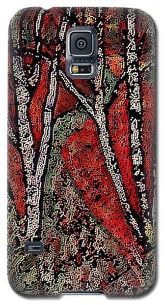 Birch Tree Mosaic Galaxy S5 Case