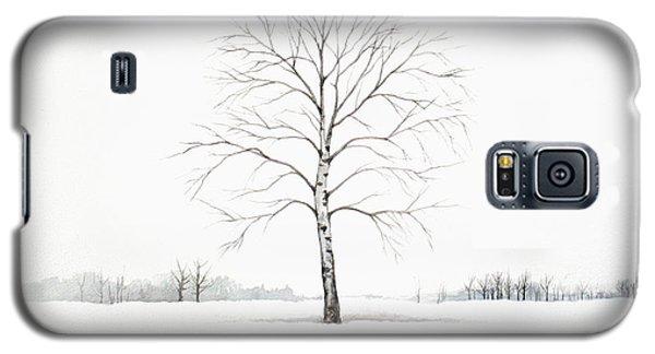 Birch Tree Upon The Winter Plain Galaxy S5 Case