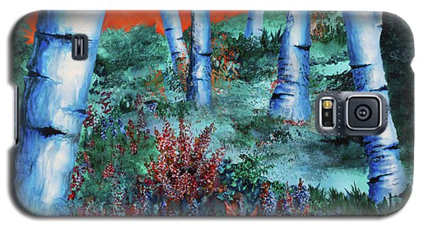 Birch Trees At Sunset Galaxy S5 Case by Curtiss Shaffer