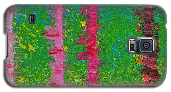 Birch Trees In The Wind Galaxy S5 Case