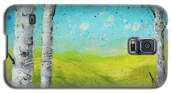 Birches In Green Galaxy S5 Case
