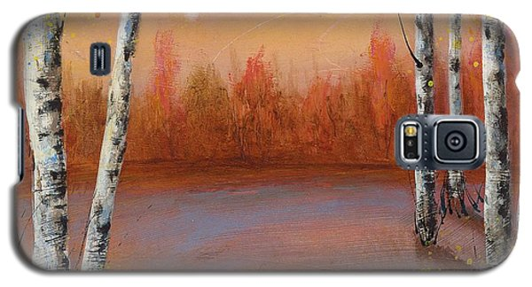 Birches In The Fall Galaxy S5 Case