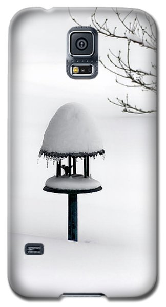 Bird Feeder In Snow Galaxy S5 Case