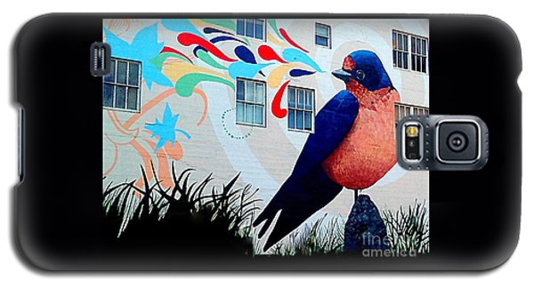 San Francisco Blue Bird Painting Mural In California Galaxy S5 Case