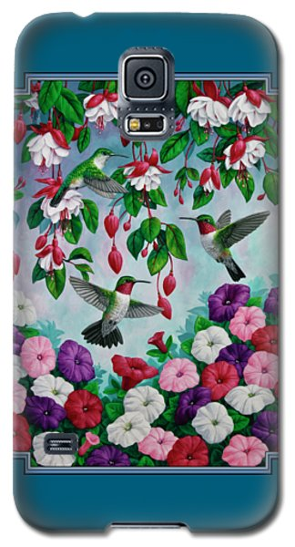 Bird Painting - Hummingbird Heaven Galaxy S5 Case by Crista Forest