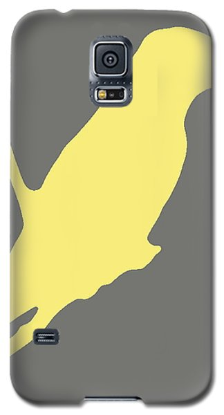Bird Silhouette Gray Yellow Galaxy S5 Case