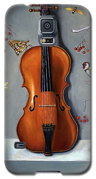 Violin Galaxy S5 Case - Bird Song by Leah Saulnier The Painting Maniac
