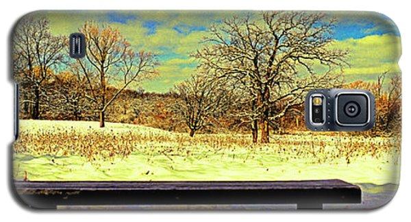 Bird Watchers Bench Winter Crabtree Nature Center Cook County Il Galaxy S5 Case