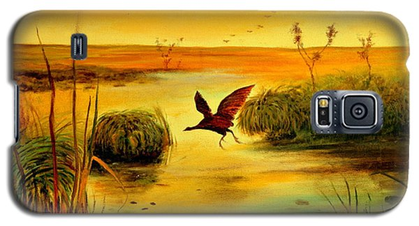 Galaxy S5 Case featuring the painting Bird Water by Henryk Gorecki