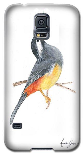 Minimal Bird And Flower Galaxy S5 Case