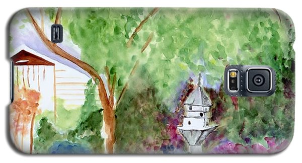 Galaxy S5 Case featuring the painting Birdhouse by Jamie Frier