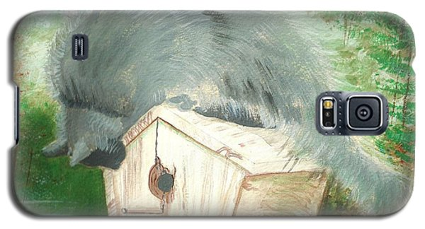 Galaxy S5 Case featuring the painting Birdie In The Hole by Denise Fulmer