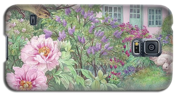 Birds And Bunnies In Cottage Garden Galaxy S5 Case