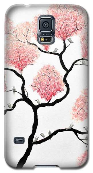 Birds And Flowers Galaxy S5 Case