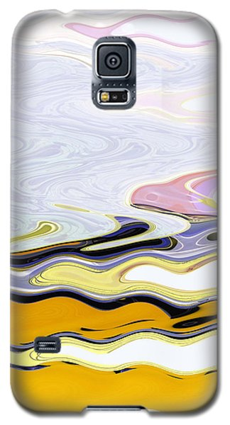 Galaxy S5 Case featuring the digital art Birds And Beach by Lenore Senior