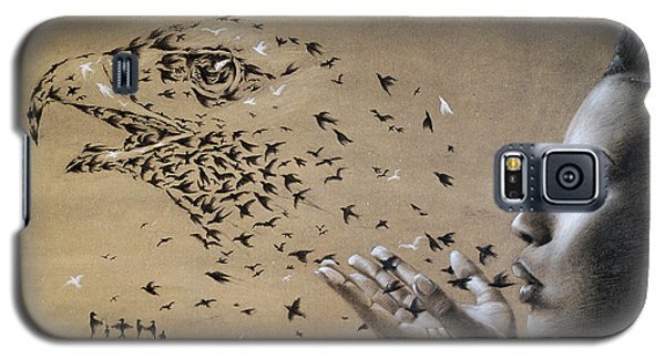 Birds Of Poetry  Galaxy S5 Case by Fithi Abraham