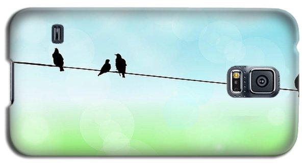 Birds Hanging Around Galaxy S5 Case