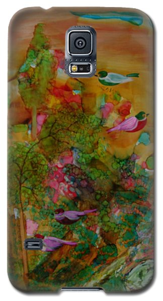 Birds In Exotic Landscape # 57 Galaxy S5 Case