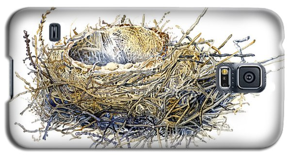 Bird's Nest Watercolor Painting Galaxy S5 Case