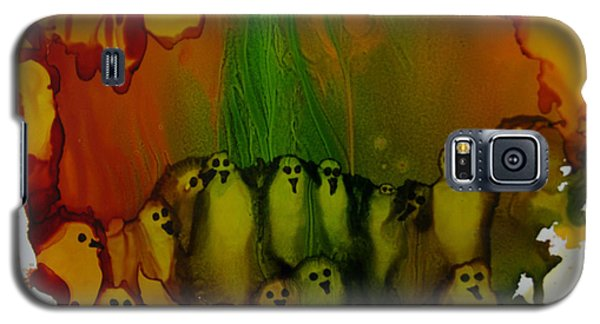 Galaxy S5 Case featuring the painting Birds Of The Ocean # 69. by Sima Amid Wewetzer
