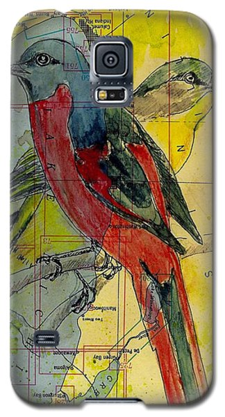 Birds On A Map Galaxy S5 Case