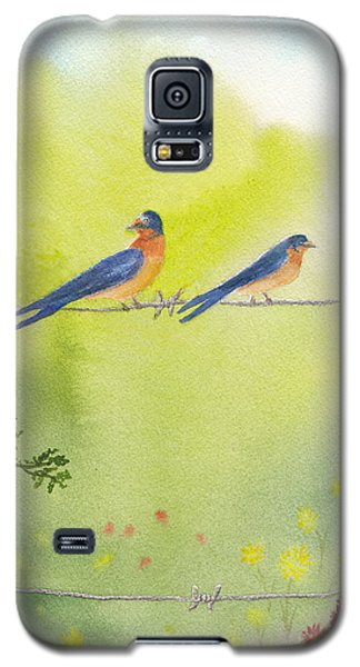Birds On A Wire Barn Swallows Galaxy S5 Case
