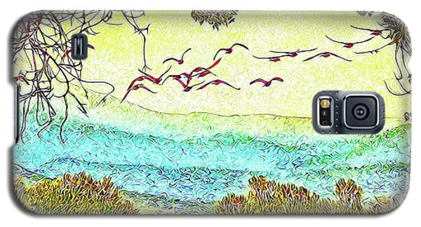 Birds Over Horizon - Boulder County Colorado Galaxy S5 Case by Joel Bruce Wallach