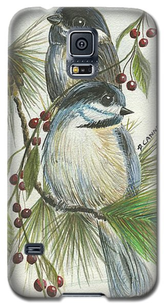 Birds Two And Fir Tree Galaxy S5 Case