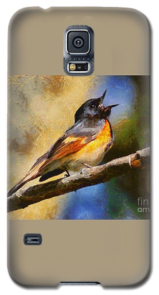 Galaxy S5 Case featuring the painting Birdsong by Elizabeth Coats