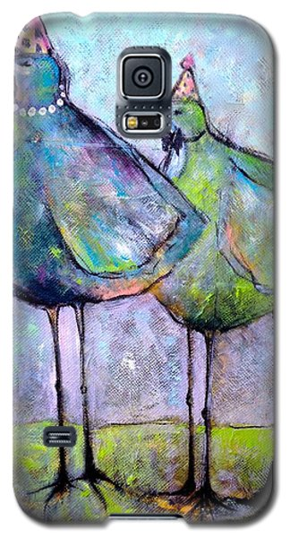 Galaxy S5 Case featuring the painting Birthday Buddies by Eleatta Diver