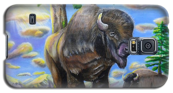 Bison Acrylic Painting Galaxy S5 Case