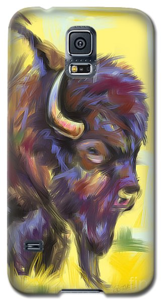 Galaxy S5 Case featuring the painting Bison And Bird by Go Van Kampen