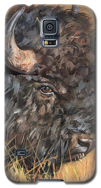 Galaxy S5 Case featuring the painting Bison by David Stribbling