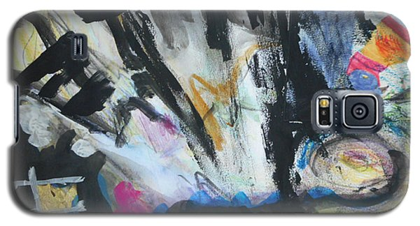 Black Abstract Galaxy S5 Case