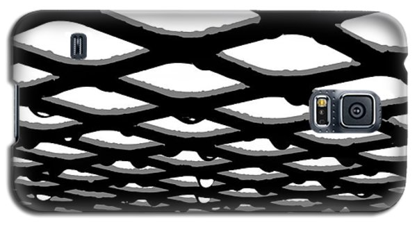 Black And Clear Raindrops Under The Table Galaxy S5 Case by John King