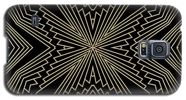 Black And Gold Art Deco Filigree 003 Galaxy S5 Case