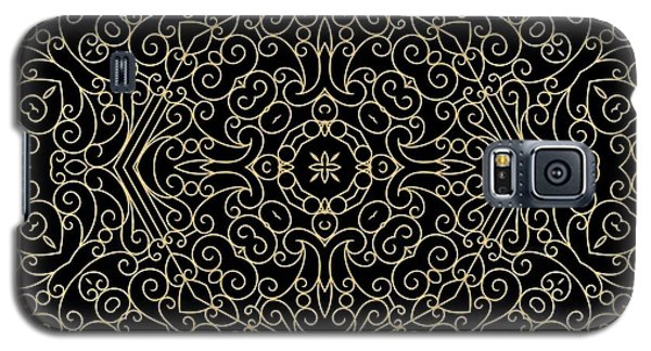 Black And Gold Filigree 002 Galaxy S5 Case