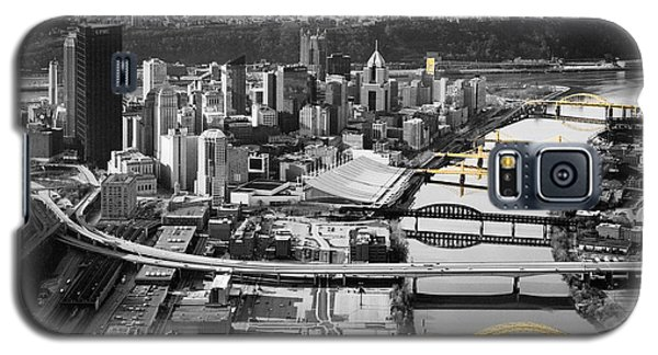 Black And Gold Pittsburgh  Galaxy S5 Case by Emmanuel Panagiotakis