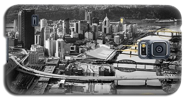 Black And Gold Pittsburgh  Galaxy S5 Case