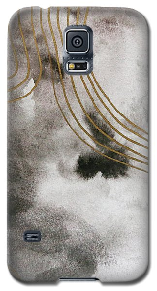 Black And Gold Watercolor Galaxy S5 Case