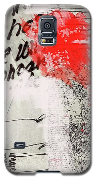 Galaxy S5 Case featuring the painting Black And Red 4 by Nancy Merkle