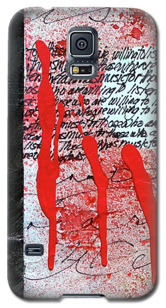 Galaxy S5 Case featuring the painting Black And Red 8 by Nancy Merkle