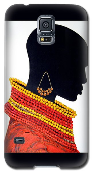 Black And Red - Original Artwork Galaxy S5 Case